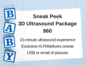 Sneak Peek3D Ultrasound Package$60